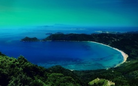 Обои пляж, залив, лагуна