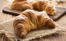 Обои выпечка, breakfast, круассан, croissant