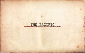 Обои кино, надпись, сериал, the pacific, На Тихом океане