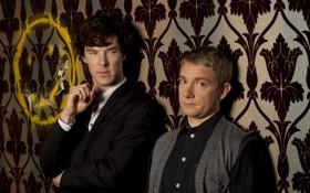 Обои стол, обои, BBC, Sherlock, на рабочий