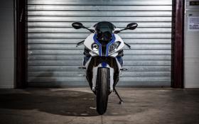 Картинка белый, bmw, бмв, мотоцикл, white, bike, передок