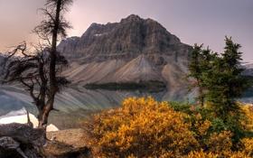 Обои пейзаж, река, гора