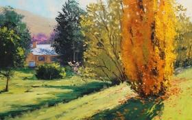 Обои рисунок, арт, Australia, artsaus, Autumn in carcor