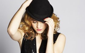 Картинка актриса, шляпка, знаменитость, эмма уотсон, emma watson