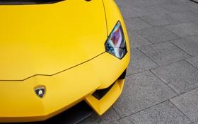 Обои желтый, фара, суперкар, спорткар, lamborghini, ламборджини, yellow