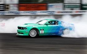 Обои машина, авто, обои, гонка, дым, скорость, трасса