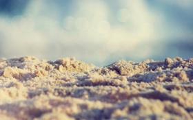 Картинка пляж, лето, макро, Песок