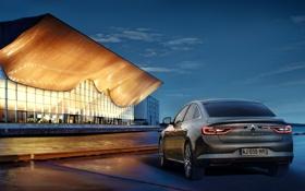 Обои фото, Renault, Автомобиль, Сзади, 2015, Металлик, Talisman