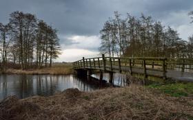 Обои пейзаж, мост, река