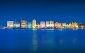 Обои город, Blue Hour, Willemstad