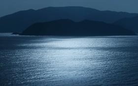 Обои море, горы, утро, Вьетнам, Nha Trang