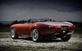 Обои Jaguar, ягуар, Eagle, E-Type, Speedster