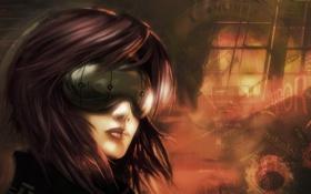 Картинка фантастика, аниме, киберпанк, Призрак в доспехах, Ghost in the Shell, Мотоко Кусанаги