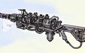 Картинка fallout, sketch, features, gun design