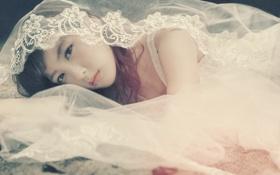 Картинка Девушка, платье, азиатка