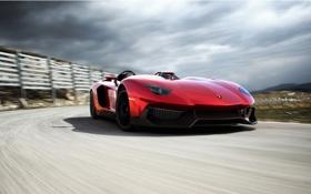 Обои красный, концепт, red, supercar, автомобиль, ламборджини, новый