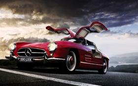 Обои Gullwing, Sl 300, Mercedez Benz