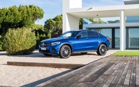 Картинка синий, Mercedes-Benz, мерседес, AMG, Coupe, GLC-Class, C253