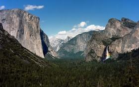 Картинка долина, Калифорния, California, Национальный парк Йосемити, Yosemite National Park, Sierra Nevada mountains