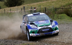 Обои Ford, Спорт, Машина, Форд, Капот, Занос, WRC