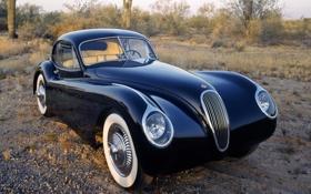 Картинка отражение, фары, Jaguar, 1953, классика, Coupe, Fixed Head