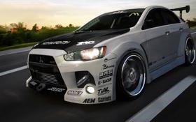 Картинка фотошоп, Mitsubishi, Lancer, evo, wtb11