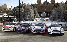 Обои Ford, Volkswagen, Citroen, Hyundai, форд, ралли, WRC