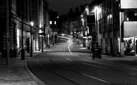 Картинка дорога, ночь, город