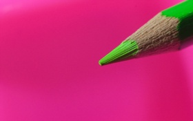 Обои макро, фон, цвет, карандаш