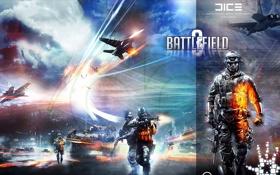 Обои самолеты, солдаты, танк, поле битвы, battlefield 3, сержант, авиция