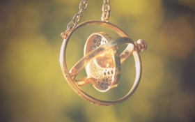 Обои металл, круг, цепочка, подвеска