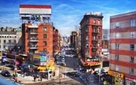 Обои Chinatown, Eldridge Street, ney york, Dumpling Alley, нью-йорк, сша, nyc