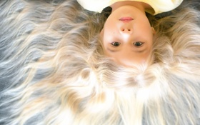 Картинка волосы, девочка, Hair of Gold