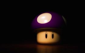 Обои марио, тень, гриб, тьма