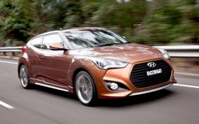 Картинка машина, скорость, Hyundai, Turbo, Veloster