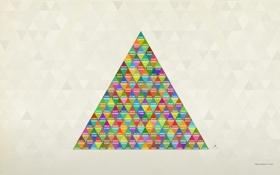 Обои цвета, дизайн, RGB, треугольник, pixel junglist