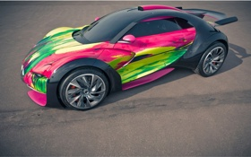 Обои Citroen, Car, Survolt, Art Concept
