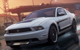 Обои race, 2012, Need for speed, Ford Mustang Boss 302, Most wanted, game
