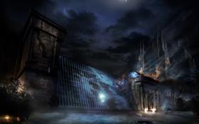 Картинка ночь, тьма, музей, нью йорк, полночь, Alone in the Dark