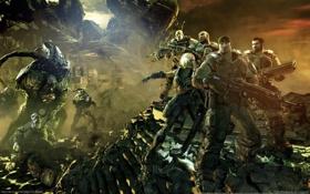 Картинка Marcus Fenix, Lambent, Gears of War