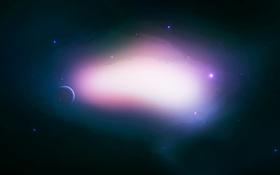 Обои звезды, планета, созвездие, сияние, свет, universe, space