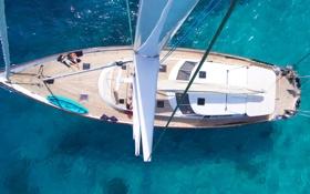 Картинка яхта, путешествие, отдых, мачта, море