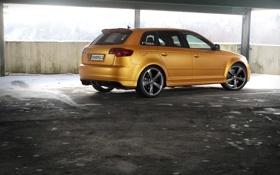 Картинка Audi, авто, тюнинг, car, Gold Orange, tuning, RS3