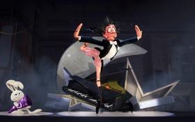 Картинка сцена, шляпа, рояль, pixar, presto, фокусник, престо