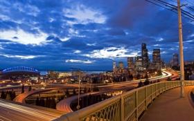Картинка США, USA, Вашингтон, Seattle, город, city, Сиэтл