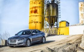 Обои песок, машина, авто, Jaguar, горка, Ягуар, фотограф