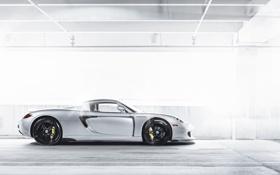 Обои Porsche, профиль, серебристая, порше, Carrera, silvery, каррера