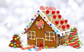 Картинка печенье, конфеты, Christmas, Candy, выпечка, сладкое, новогодняя