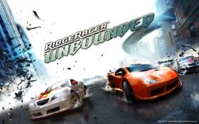 Обои Игры, Скорость, Осколки, Гонки, Автомобили, Ridge Racer Unbounded