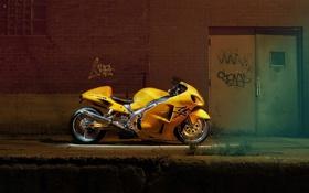 Обои мотоцикл, байк, сузуки, 2001 Suzuki Hayabusa